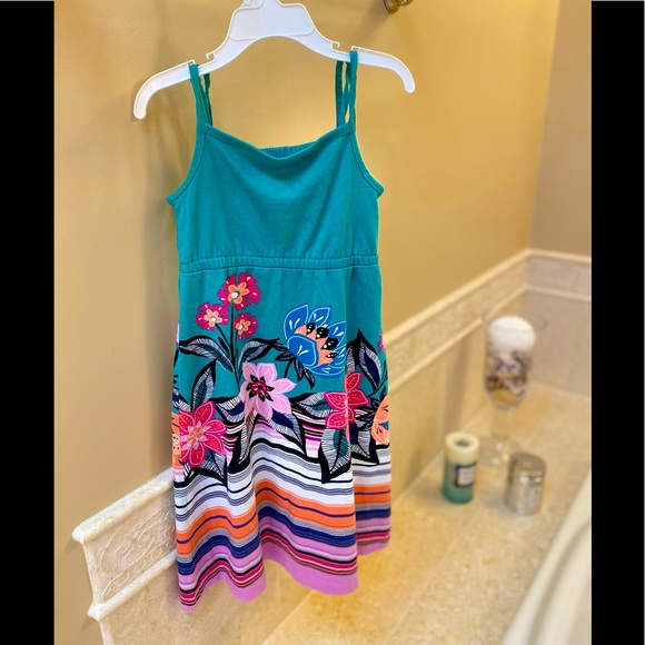 Gymboree teal and colorful sundress 4